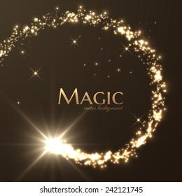 Magic lights vector background. Eps10.