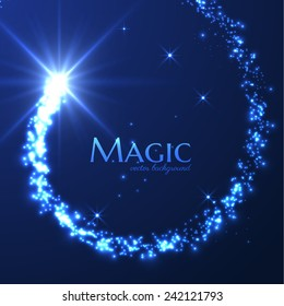 Magic lights vector background. Eps10.