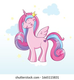 magic pony with horn and wings