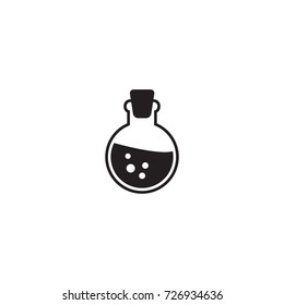 Magic potion vector icon isolated on white background