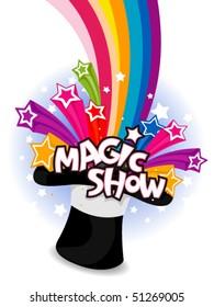 Magic Show Flyer Design - Vector