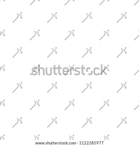 Magic Staff Background Line Icon Linear Stock Vector Royalty Free