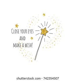 Magic stick illustration