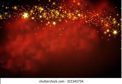 Magic texture & fog background with stars. Vector illustration