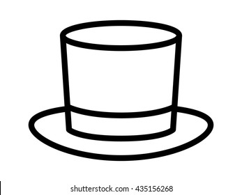 Magic top / high hat line art vector icon for apps and websites