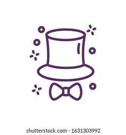 magic tophat sorcery isolated icon vector illustration design