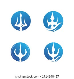Magic Trident of Wave Logo Template