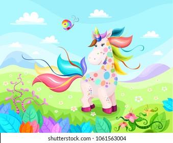 magic unicorn illustration
