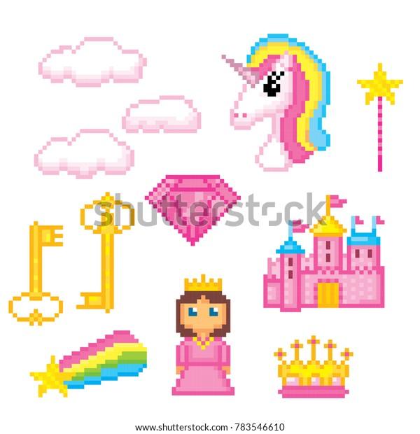 Image Vectorielle De Stock De Des Icônes Magique Unicorne