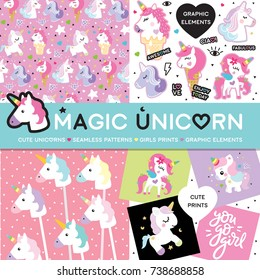 Magic unicorn set pastel