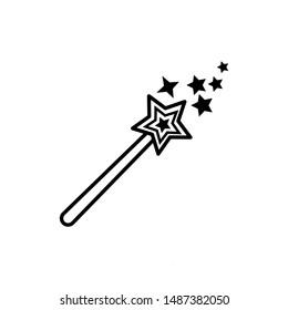 magic wand icon trendy flat design