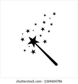 Magic Wand Icon Vector Art Illustration