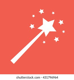 Magic wand icon vector illustration