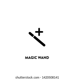 magic wand icon vector. magic wand sign on white background. magic wand icon for web and app