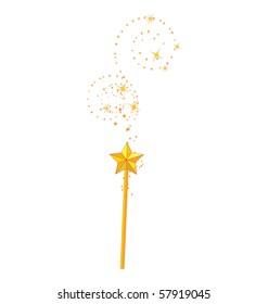 magic wand isolated on white background