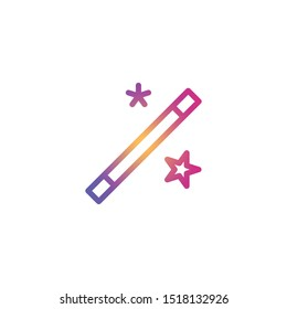 Magic Wand  - Line Vector Icon