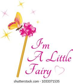 Magic wand for a little fairy. Vector