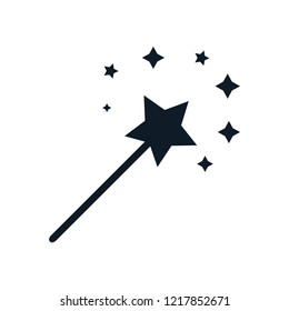 Magic wand star icon logo template trendy