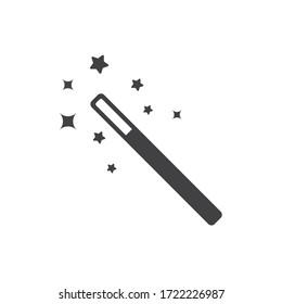 Magic wand with stars flat sign design. Magic wand vector icon. EPS 10 pictogram of magic wand symbol