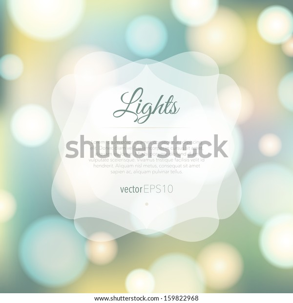 Magical background with colorful bokeh