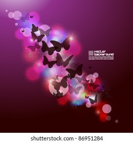 magical butterfly vector background design
