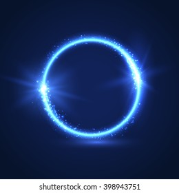 Magical glowing ring background. Vector eps10.