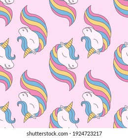 Magical unicorn pattern graphic. Seamless Pattern can be  used for wallpaper, pattern fills, background and surface textures