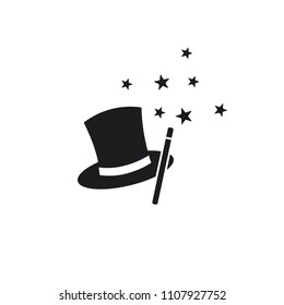 magician hat vector icon, magic hat icon in trendy flat style