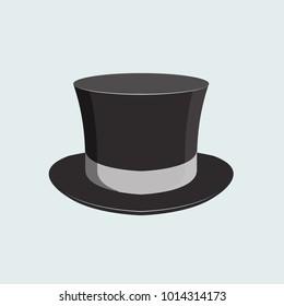 Magician man hat, retro hat vector illustration decorative symbol icon wear accessory