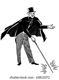 Magician - Retro Clipart Illustration