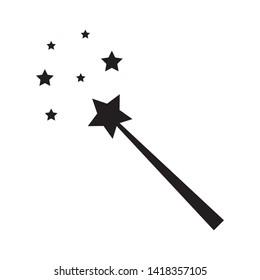magician stick wizard icon logo vector illustration