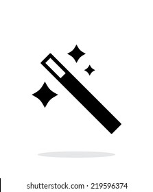 Magician wand icon. Vector illustration.