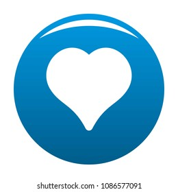 Magnanimous heart icon. Simple illustration of magnanimous heart vector icon for any design blue