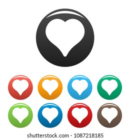 Magnanimous heart icon. Simple illustration of magnanimous heart vector icons set color isolated on white