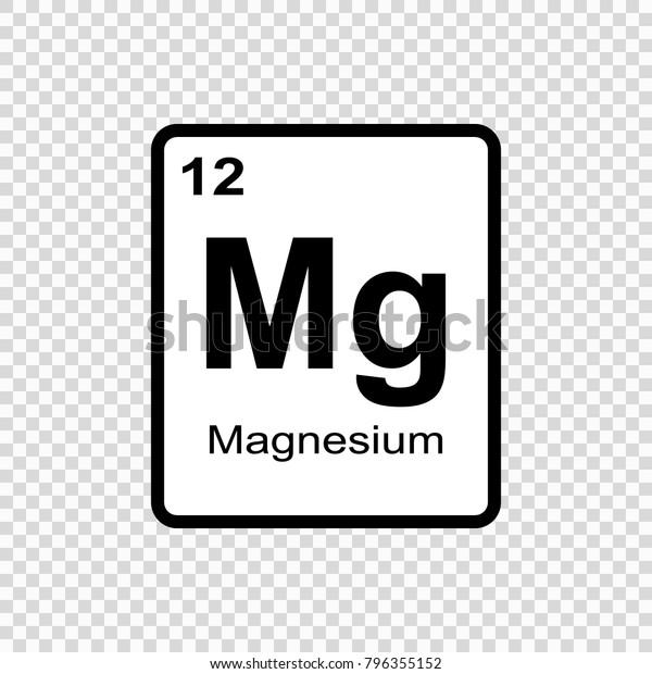 Image Vectorielle De Stock De Element Chimique Du Magnesium Signe Avec 796355152