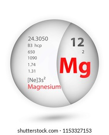 Magnesium icon in badge style. Periodic table element Magnesium icon. One of Chemical signs collection icon can be used for UI/UX on white background.