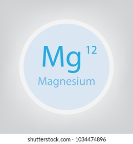 Magnesium Mg chemical element icon- vector illustration