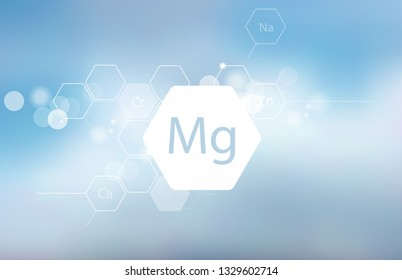 Magnesium. Scientific research. Trace Elements . Abstract Composition