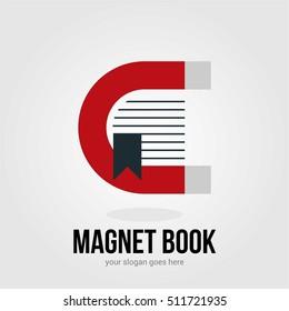 MAGNET BOOK BUSINESS COMPANY LOGO TEMPLATE SYMBOL EMBLEM