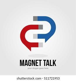 MAGNET BUSINESS COMPANY LOGO TEMPLATE SYMBOL EMBLEM