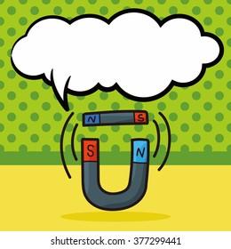 Magnet color doodle, speech bubble
