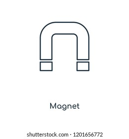 Magnet concept line icon. Linear Magnet concept outline symbol design. This simple element illustration can be used for web and mobile UI/UX.