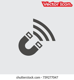 Magnet icon isolated sign symbol and flat style for app, web and digital design. Vector illustration.