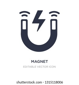 magnet icon on white background. Simple element illustration from UI concept. magnet icon symbol design.