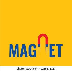 magnet letter logo vector