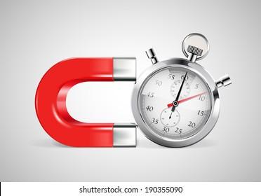 Magnet - time management concept