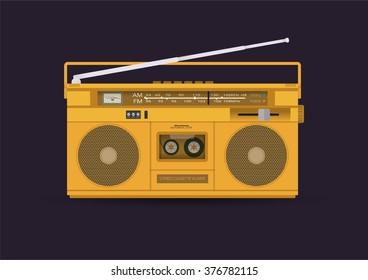 Magnetic cassette player, illustration