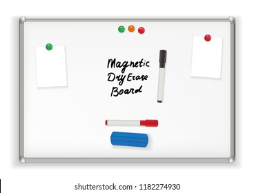 Magnetic Dry Erase Board. Marker whiteboard School Office