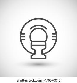 Magnetic resonance imaging line icon