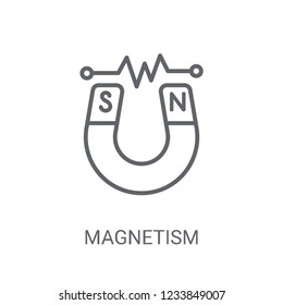 Magnetism icon. Trendy Magnetism logo concept on white background from Science collection. Suitable for use on web apps, mobile apps and print media.